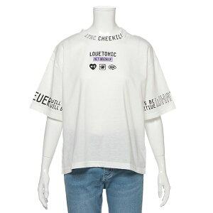 220193c673d5b 衿スリットロゴTシャツ/ラブトキシック(Lovetoxic) ラブトキシックの衿スリットロゴTシャツフロントやぐるりと袖にほどこしたロゴ が好感度抜群のTシャツです。