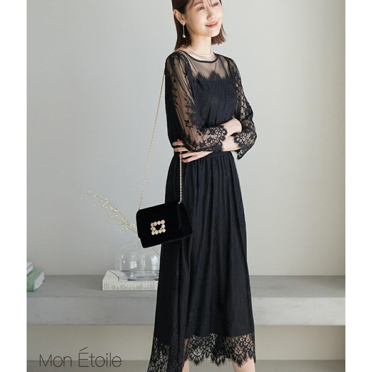 【Mon E'toile】【結婚式にも】レースDRESS/ロペピクニック