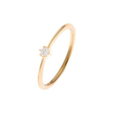 ダイヤモンド しのぎ6本爪リング/ココシュニック(COCOSHNIK)