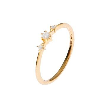 ダイヤモンド しのぎ6本爪 サイドメレーリング/ココシュニック(COCOSHNIK)
