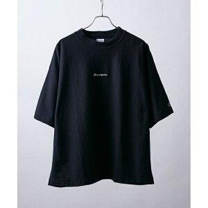 Champion for tk.TAKEO KIKUCHI リバースウィーブ モックネックロゴTシャツ/ティーケー タケオキクチ(tk.TAKEO KIKUCHI)