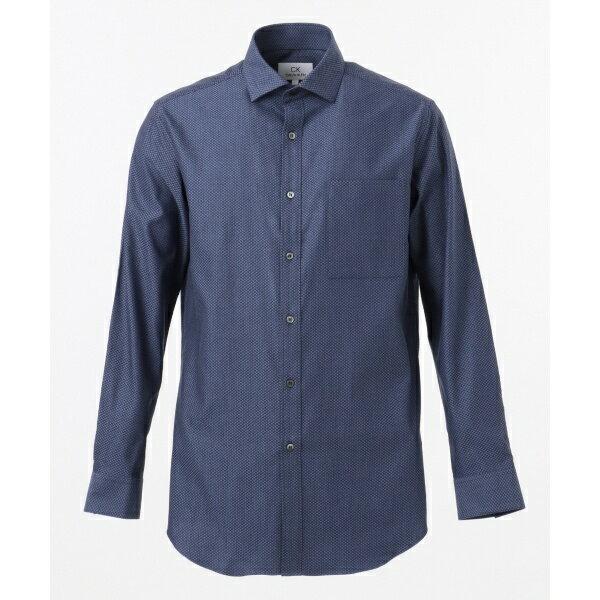 CKCALVINKLEINMEN(CKカルバン・クラインメン)『形態安定サテンダイヤドビーシャツ/ホリゾンタルカラー』