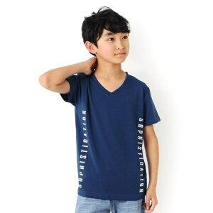 バックメッシュ・サイドロゴVネック半袖Tシャツ/グラソス(GLAZOS)