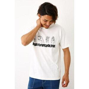 サイン ランゲージ Tシャツ/ロデオクラウンズ ワイドボウル(メンズ)(RODEO CROWNS WIDE BOWL)