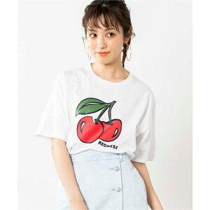 CHERRYプリントTシャツ/ウィゴー(レディース)(WEGO)