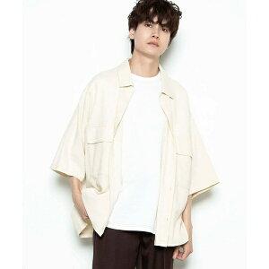 リネンMIX 5分袖CPOシャツ/ウィゴー(メンズ)(WEGO)