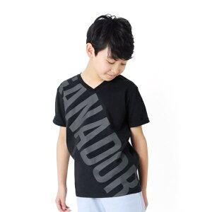 天竺・ビックロゴVネック半袖Tシャツ/グラソス(GLAZOS)