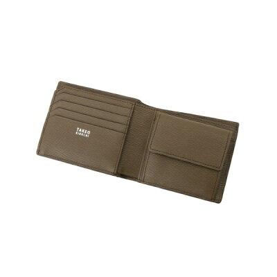 大人の男が選ぶおしゃれなメンズ財布ブランド TAKEO KIKUCHI カラー水シボ 二つ折り財布
