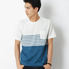 ボーダー パネルTシャツSHIPS JET BLUE (シップス ジェットブルー): ボーダー パネルTシャツ/...