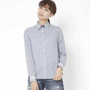 異素材使いベーシックシャツ/ビッキー(VICKY)