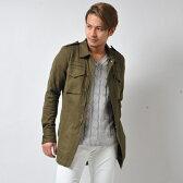 【M-65L】カットソー地ミリタリーシャツジャケット/バッファローボブズ(BUFFALO BOBS)