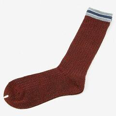 リブクルーソックス。レディス靴下(ラメトップサンドラインソックス)/17℃(17C)