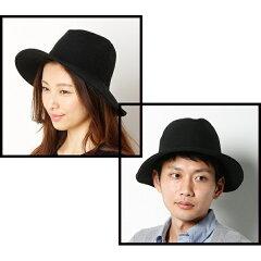 【男女兼用・5サイズ展開(SS〜LL)・サイズ調整機能付き】広つば中折れ帽/ヤオキチ(YAOK…