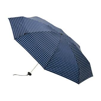 【コンパクトなケース入り】折りたたみ傘(X1NavyDot)/クニルプス(Knirps)