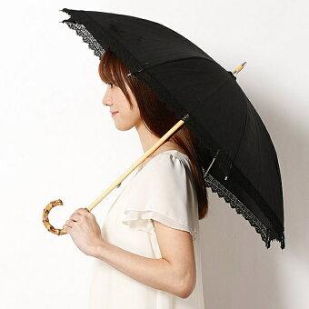 【UV遮蔽率99%以上・遮熱効果】綿麻xケミカルレースショート日傘(レディース)/GRACY(グレイシー)