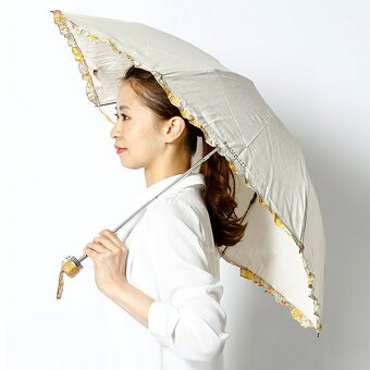 【UV遮蔽率99%以上・遮熱効果】晴雨兼用フリル折畳み日傘(リバティ生地使用/レディース)/マッキントッシュフィロソフィー(MACKINTOSHPHILOSOPHY)