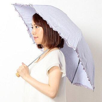 【UV遮蔽率99%以上・遮熱効果】晴雨兼用フリル折畳み日傘(リバティ生地使用/レディース)/マッキントッシュフィロソフィー(MACKINTOSHPHILOSOPHY)【0509P5】