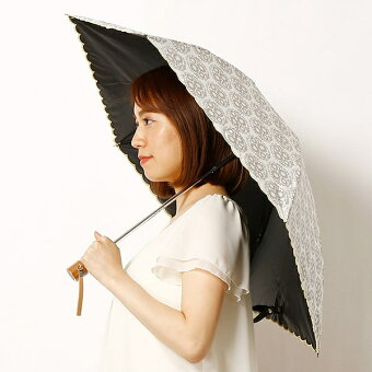 日傘(3段/折りたたみ)【雨の日OK/遮光率&遮蔽率99%以上/遮熱効果】箱付き/ボックスアンドニードル(BOX&NEEDLE)