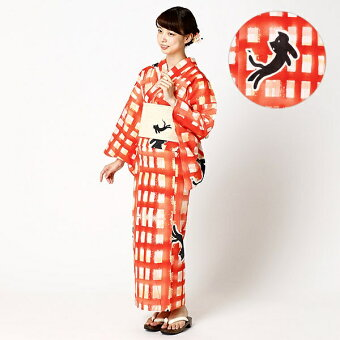 浴衣(格子ネコ)/ツモリチサト(浴衣)(tsumorichisato)