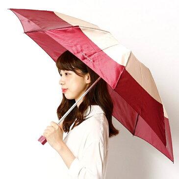 【JJ 7月号掲載】【雨傘(折りたたみ/3段折り/ミニ)】2色ボーダープリント/レディース/ピンキー&ダイアン(雑貨)(Pinky&Dianne)