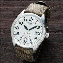 男のミリタリーソーラー腕時計