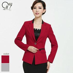 すっきりデザインのテーラードジャケット (jacket-14)