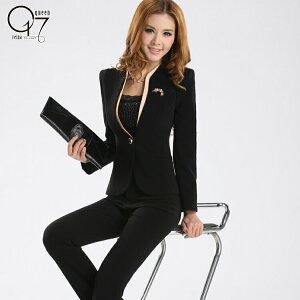 ノーカラースタイリッシュパンツスーツ (suit-23)