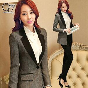 シンプル美ライン♪スタイルアップパンツスーツ (suit-87)