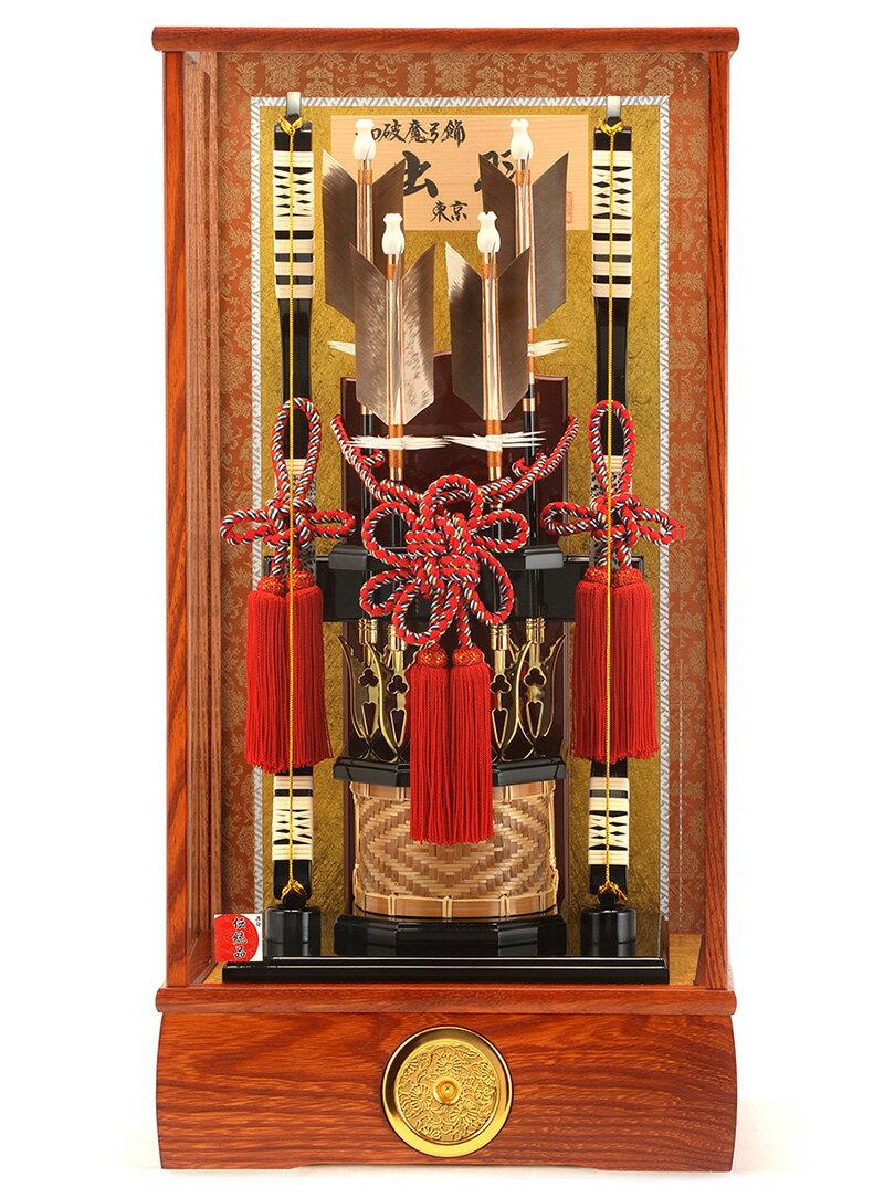 ケース飾り 出羽 竹箙 本籐 15号 家具調面取カブセケース