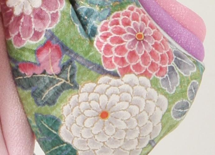 特選羽子板 限定品 プレミアム 1点もの 正絹友禅染め古布仕立て 手描き札 特別製作品 15号