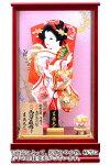 ケース飾り 金彩 10号 伝統工芸 手造り 本押絵仕様 赤メタリックケース