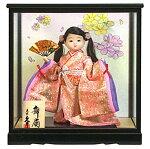浮世人形 ケース飾り 都印80 小桜 扇