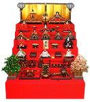 七段飾り 十五人飾り 平安弌峰作 京雛 正絹有職 六番親王