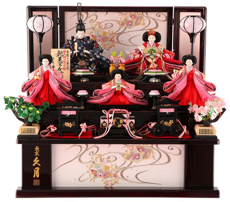 収納飾り 三段飾り 五人飾り 束帯十二単姿