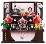 収納飾り 三段飾り 五人飾り よろこび雛 小三五親王 小芥子官女