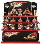 木目込人形飾り 三段飾り 十五人飾り 一秀作 麗華雛