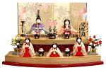 木目込人形飾り 段飾り 五人飾り 幸一光作 栄祥雛