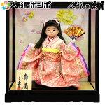 浮世人形 ケース飾り 都印80 桜姿 扇