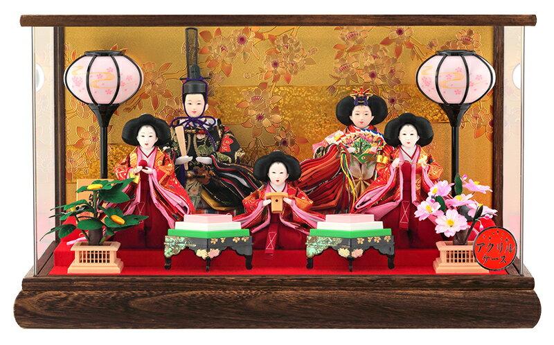 五人飾り 桜 本焼桐