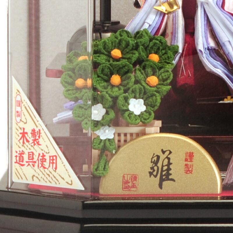 芥子五人 木製道具 六角アクリルケース オルゴール付