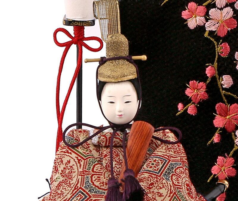 山崎巧絢作 創作雛 葵 奈良裂蜀紅文 龍村美術織物