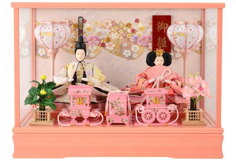 ケース飾り 親王飾り 御雛 芥子 ピンク