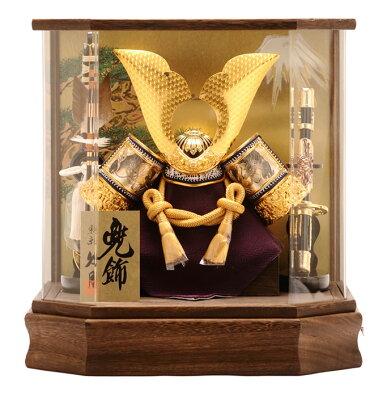 五月人形でおすすめ 久月 兜ケース飾り オルゴール付 アクリルケース