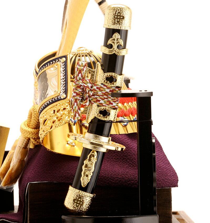 五月人形 久月 兜 兜ケース飾り 兜飾り 六角ケース オルゴール付 h265-k-k112-2 端午の節句 5月人形