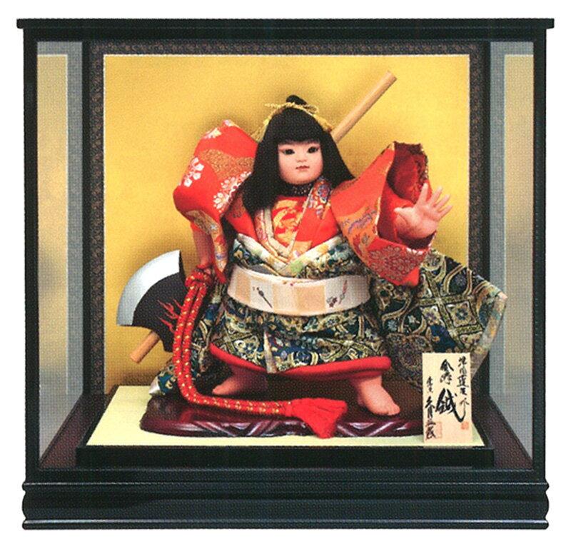 ケース飾り 浮世人形 金時 鉞 15号 津印15