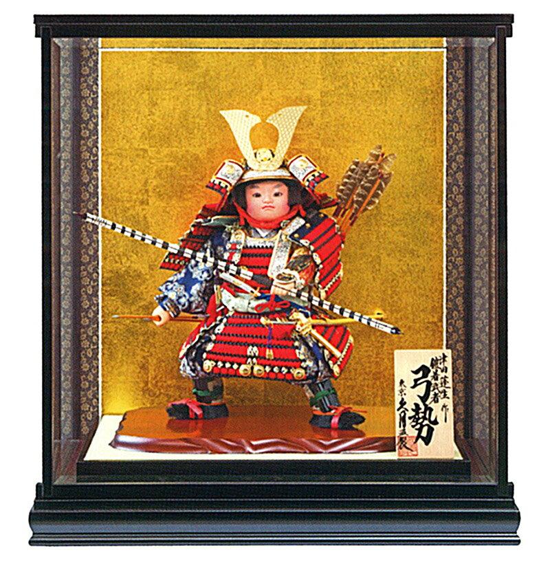 ケース飾り 武者人形 特製鎧着武者 弓勢 10号