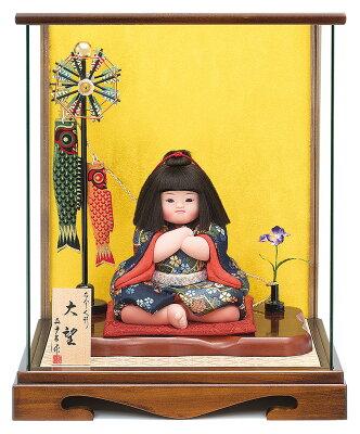 五月人形 真多呂作 腕組み金太郎