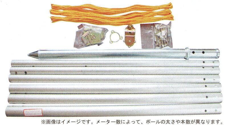 ナイロンゴールド鯉 金太郎付 五色吹流し 杭打込フルセット