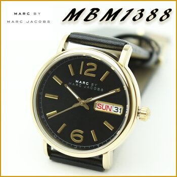 MARCBYMARCJACOBS(マークバイマークジェイコブス)ボーイズサイズレディースウォッチ女性用腕時計本革レザーベルトカレンダー時計『Fergus38mm/ファーガス38mm』