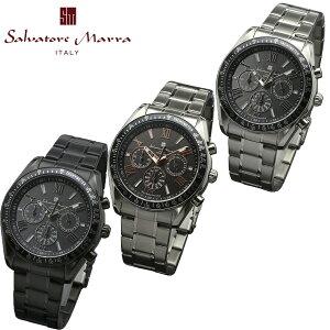 【ラッピング無料】サルバトーレマーラ電波ソーラークロノグラフSalvatoreMarraメンズ男性用腕時計スポーティデザインビジネスウォッチ時計電波ソーラー